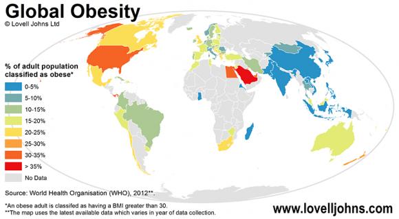 World obesity map lovell johns world obesity map gumiabroncs Gallery