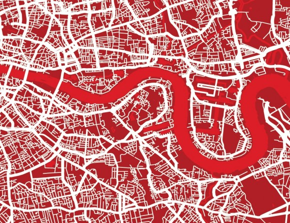 stylised map of London