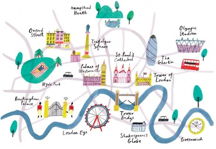 Top 5 Illustrated maps of London Lovell Johns – London in Map