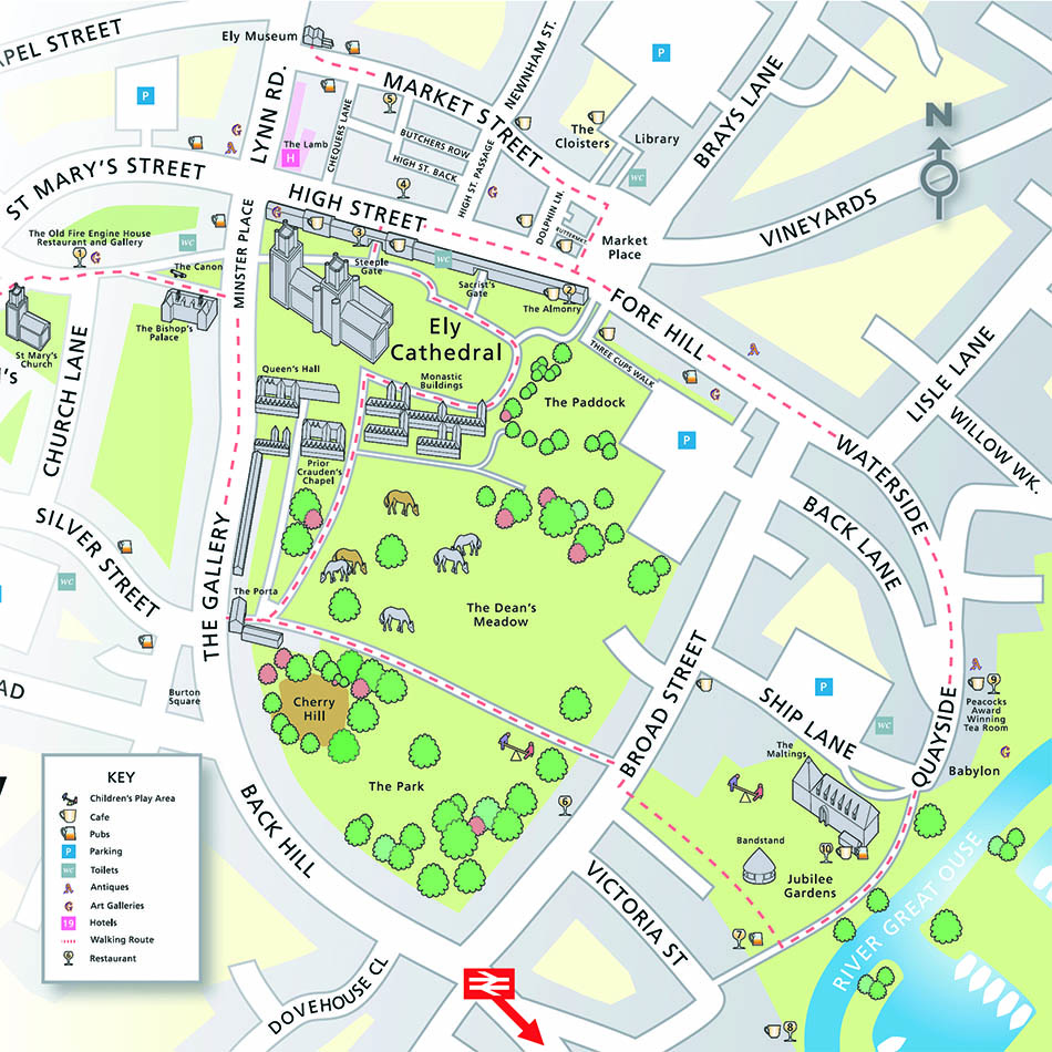 Town Centre Map With 3d Elements Lovell Johns
