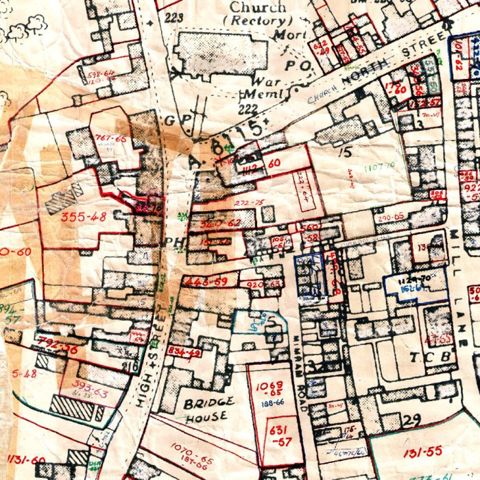 Historical planning map of Welwyn Garden City