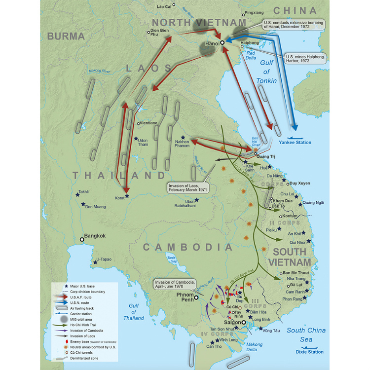 Phan Rang Vietnam Map.Vietnam War Battle Map For Publishers Maps Created For Books