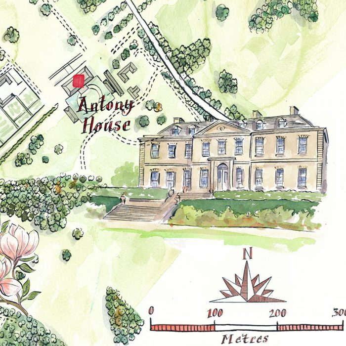 Tourism - Illustrated Map Antony Estate - Lovell Johns