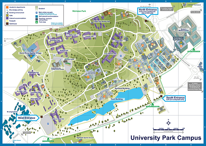 University Of Nottingham Map University of Nottingham Park Campus Map   Lovell Johns