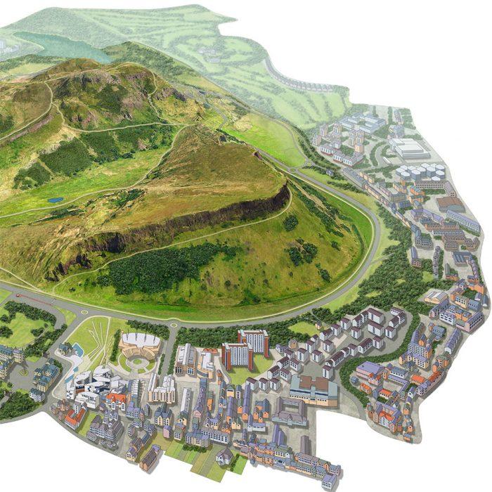 Artistic Map of Historic Environment Scotland Holyrood Park image 1