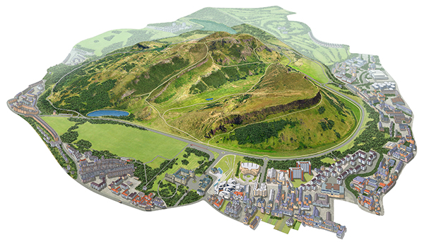 Mapping Process Holyrood Park Image