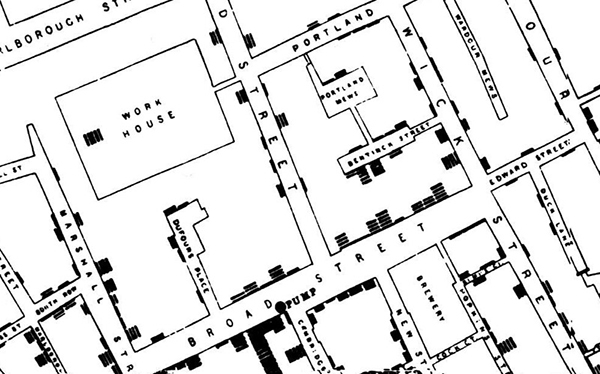 Mapping diseases GIS John Snow Cholera Outbreak Blog Image 1