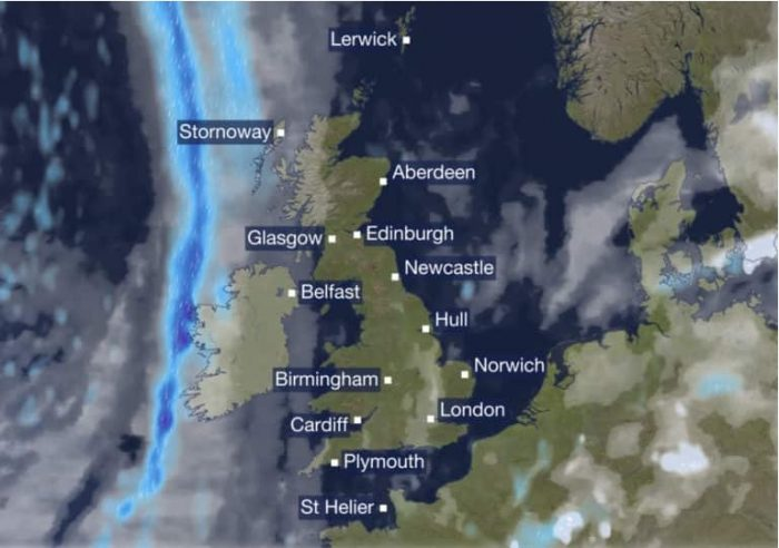 BBC weather - size of Scotland updated - image