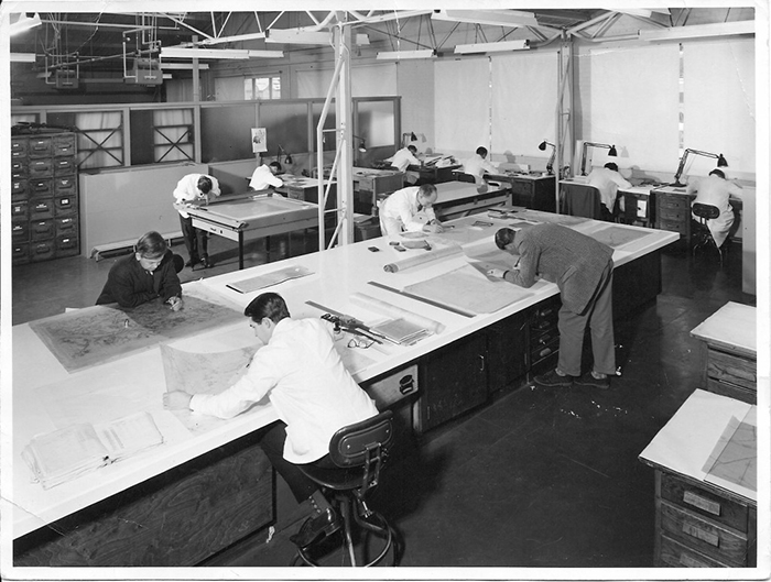 An image of a map drawing office
