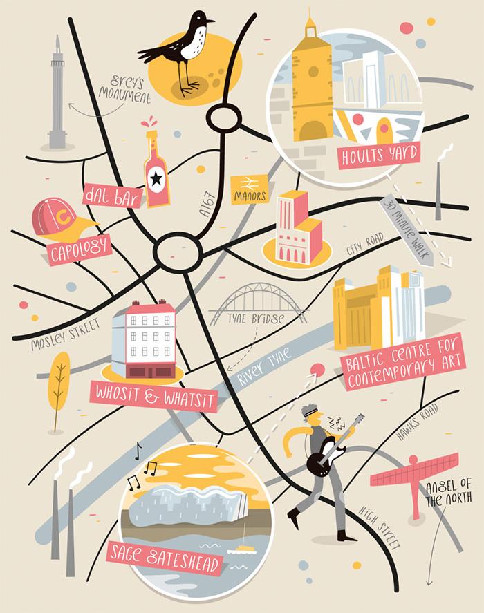 Illustrated Maps Style Image 4