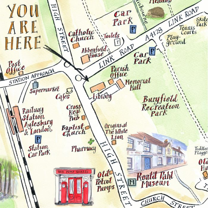 Illustrated Map of Great Missenden - Lovell Johns Case Study Image 3