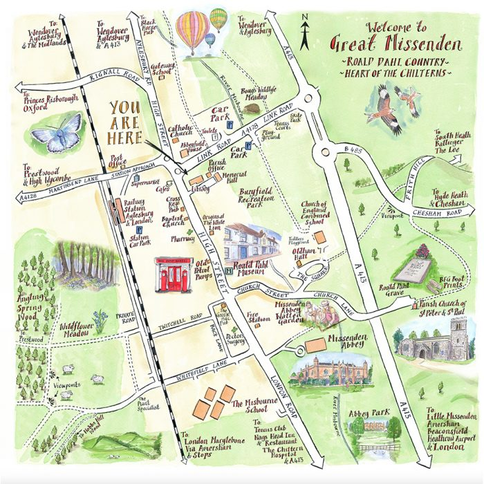 Illustrated Map of Great Missenden - Lovell Johns Case Study Image 1