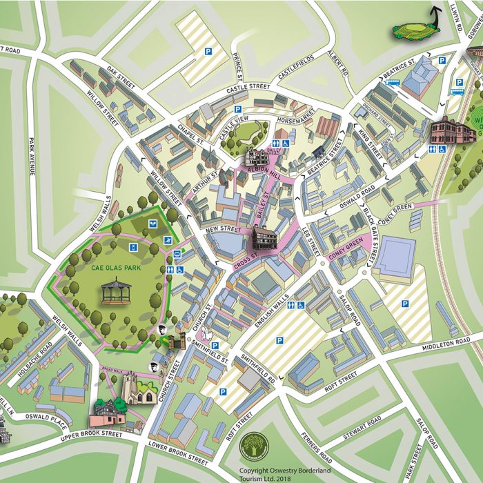 Oswestry Promotional Map - Lovell Johns Case Study image