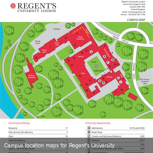 Regent Campus Map   Time Zones Map
